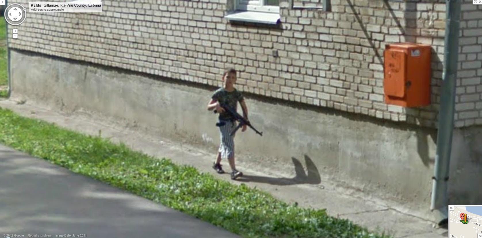 Imagens engraçadas do Google Street View