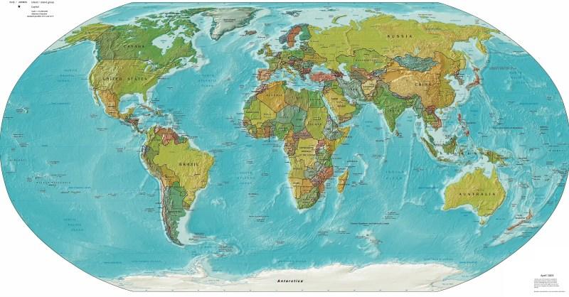 mapa mundi - mapa politico