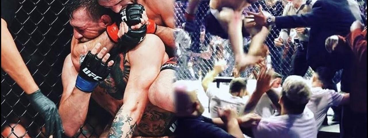 Combate entre Khabib e McGregor acaba em batalha campal