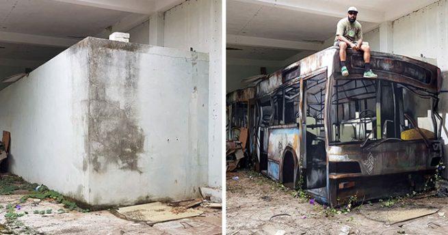 Obras de arte em graffiti