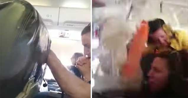 Turbulência avião provoca o pânico