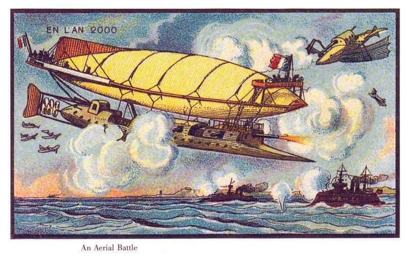 Batalha aérea 2 - A vida no ano 2000 imaginada cem anos antes