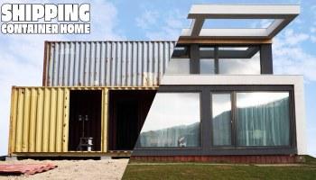 habitação sustentável feita com contentores