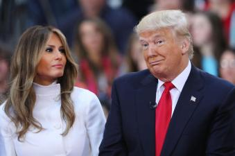 Incoming first couple, Melania and Donald Trump