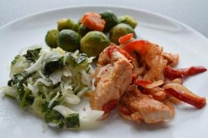 Carne de pollo, pavo y conejo en los alimentos en la menopausia.