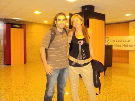 Lola Parra y Chema Alonso (hacker)