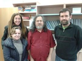 En la URJC con Stallman, Barahona y Luengo, 12-12-13