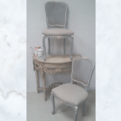 Bergere Dining Chairs Double Papasan Chair French Lola Pearl Vintage