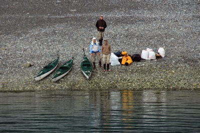 Picking up hitch-hikers, Glacier Bay