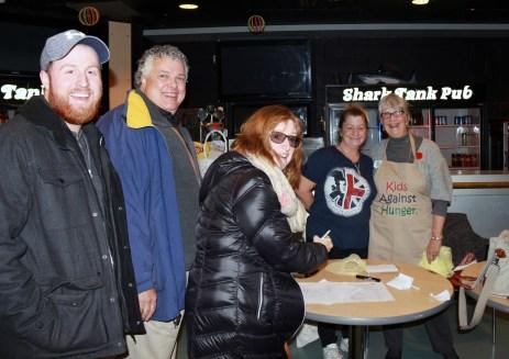 Ryan, Rotarian Bill MacKay Jr, Rotarian Cory MacKay, Karen Brown, & Rotarian Joan Hemlin LCAAT Shark Tank