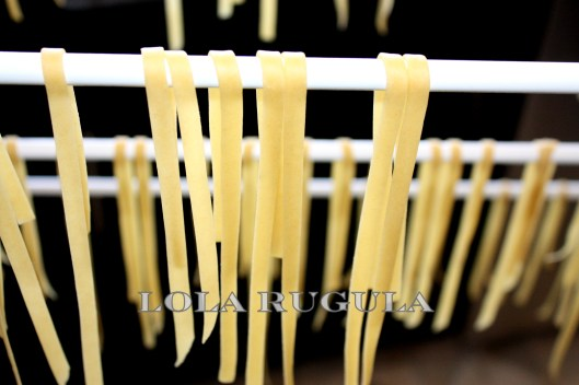 homemade fresh pasta with semolina flour