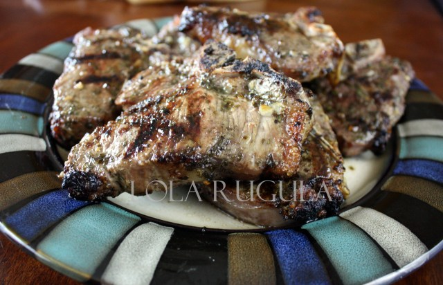lola rugula grilled lamb loin chops with garlic, oregano and mint recipe