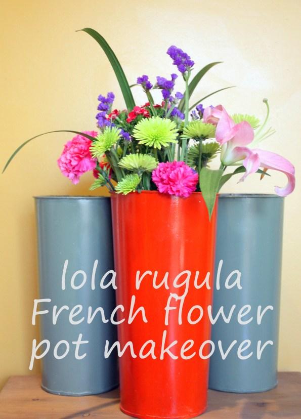 lola rugula french flower pot easy makeover