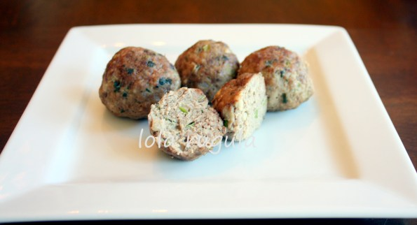 lola rugula green garlic meatballs recipe
