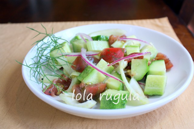 lola rugula fennel and tomato salad recipe