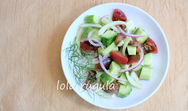 lola rugula tomato fennel and cucumber salad recipe