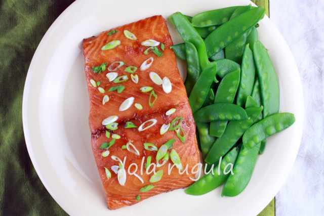 lola rugula honey glazed salmon