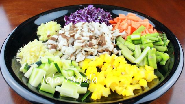 lola rugula what veggies to use in vegetable dumplings