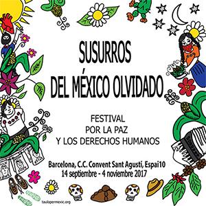 Carteles para el Festival Susurros del México olvidado