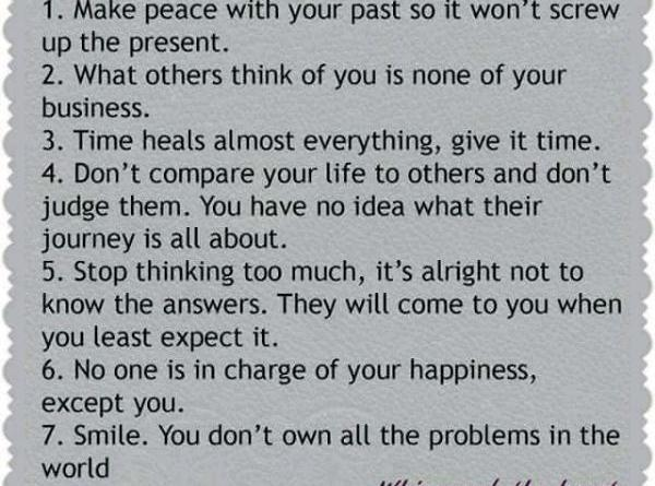 7 Rules Of Life Quote Cool Quotes  Page 30  Lol Baba
