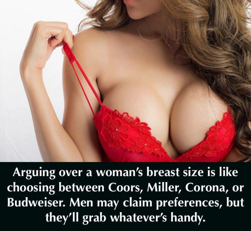 argument over breast size