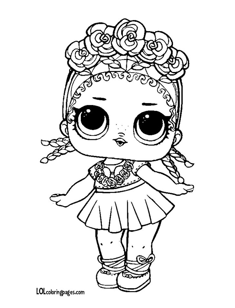 Lol Dolls Coloring Pages Center Stage Doll Coloring Page