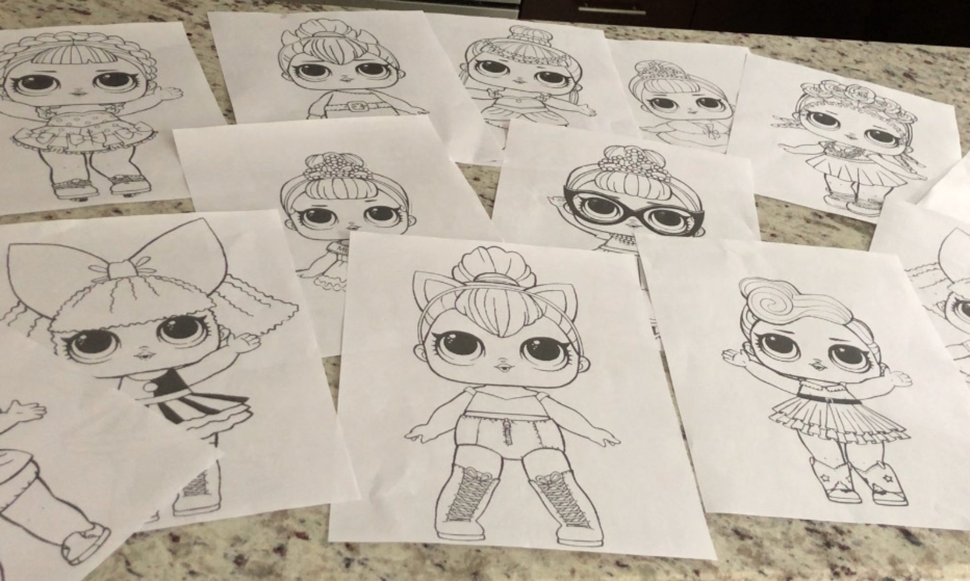Series 3 Lol Surprise Doll Coloring Pages
