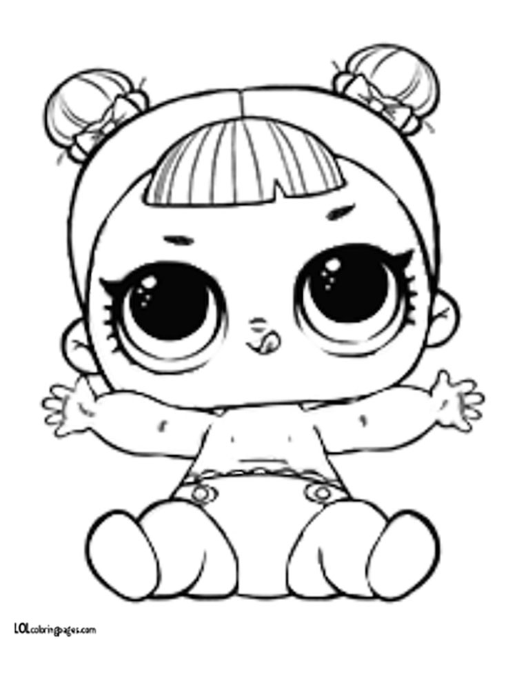 Lol Surprise Coloring Pages Lil Sisters Angel Doll Page