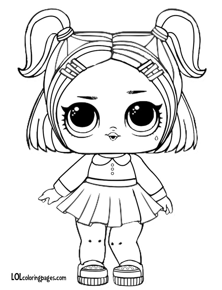 Lol Surprise Doll Luxe Coloring Pages Printable