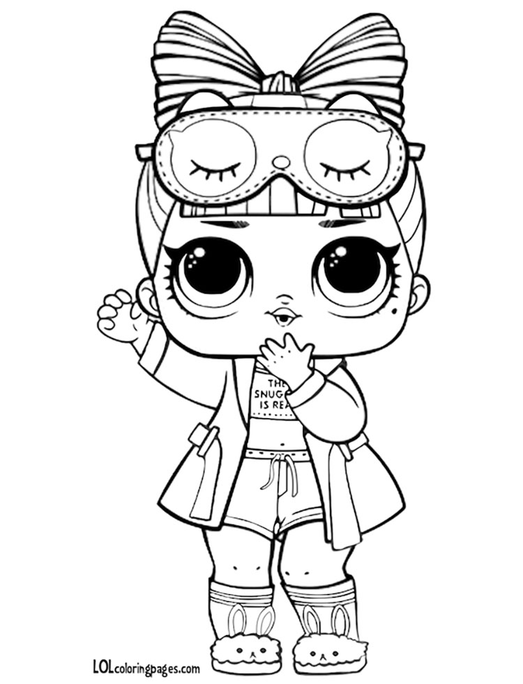 Doll Coloring Pages Cheeky Babe Surprise Page Sugar Lol