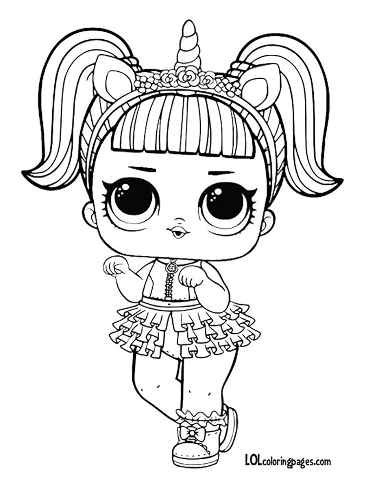 Unicorn Coloring Page Coloring Pages Printable Spice Doll