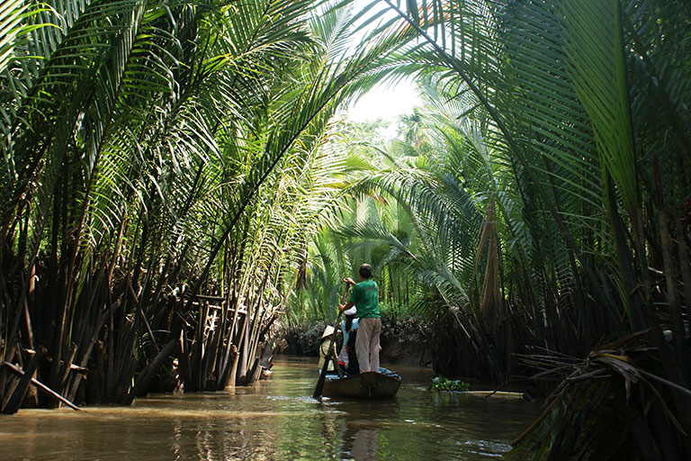 Vietnam - Palm Fringed Canals in the Delta