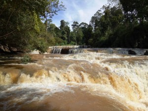 The 7-steps waterfall in the Northeast of Cambodia