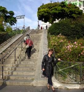 Escadas laterais da Sacré Coeur