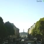 Place de la Concorde (vista a partir da Igreja de La Madeleine)
