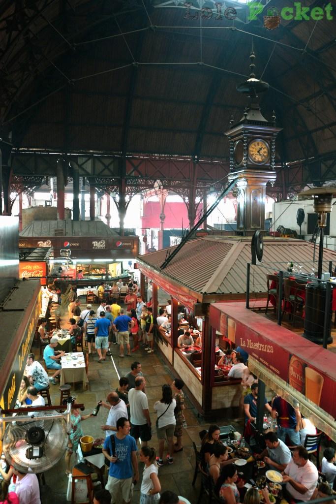 Vista do Mercado del Puerto, Montevidéu