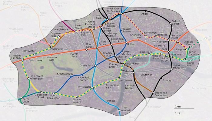 Zona 1 - Metrô Londres