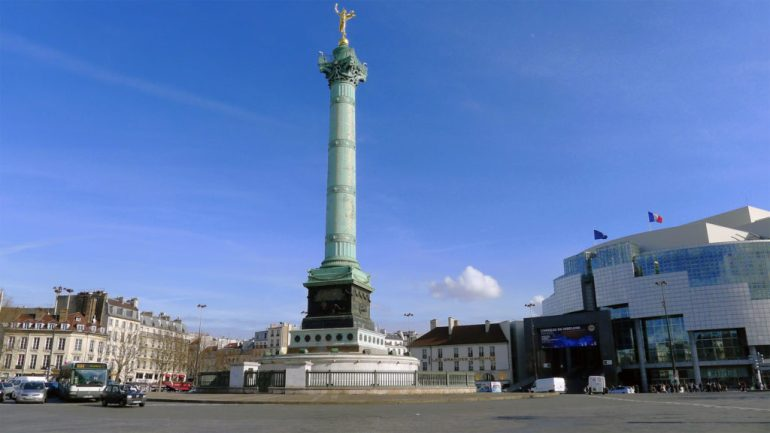 O que fazer em Paris de graça - Place de la Bastille