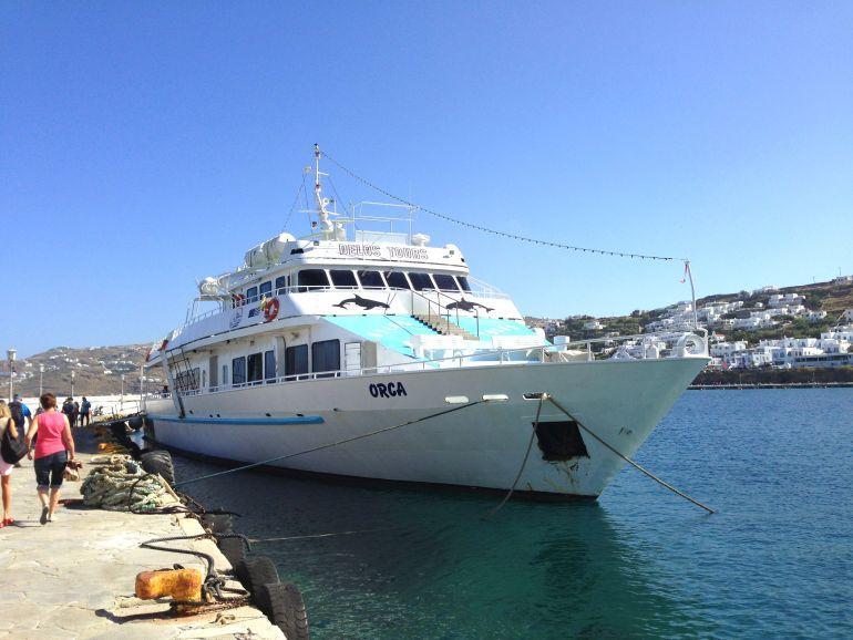 Ilhas Gregas - Delos - Embarcação da Delos Tours
