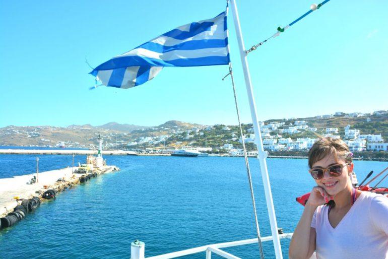 Ilhas Gregas - Delos - Na embarcação