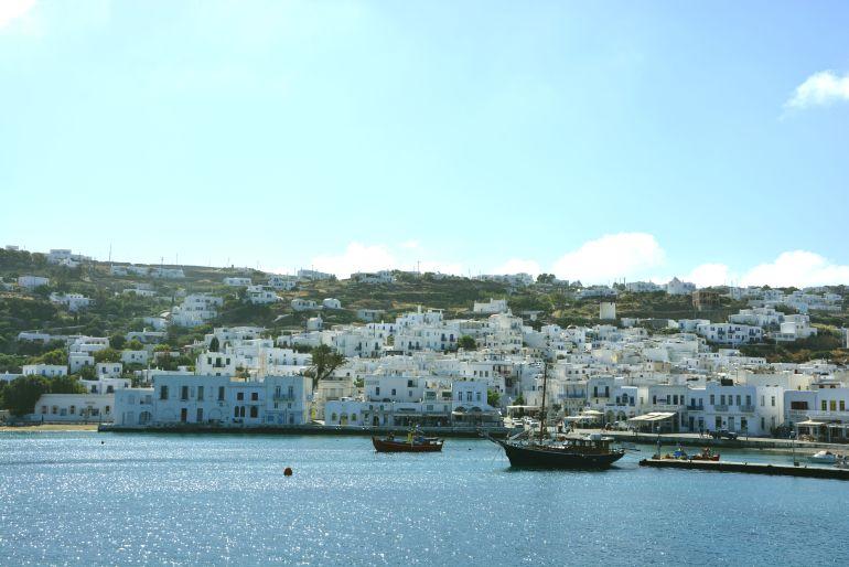 Ilhas Gregas - Delos - Saindo do Porto de Mykonos