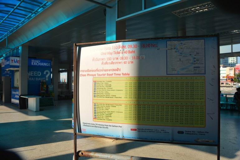 Como circular em Bangkok - Horários