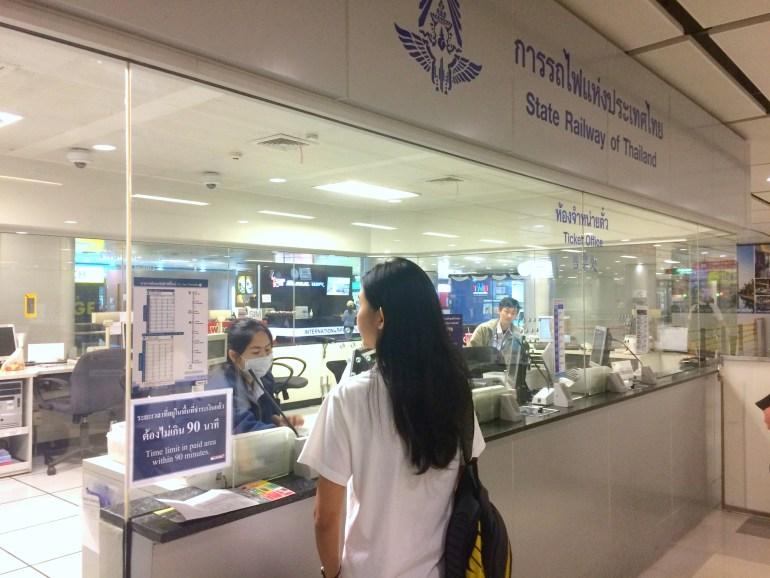 Aeroporto de Bangkok - Guichê