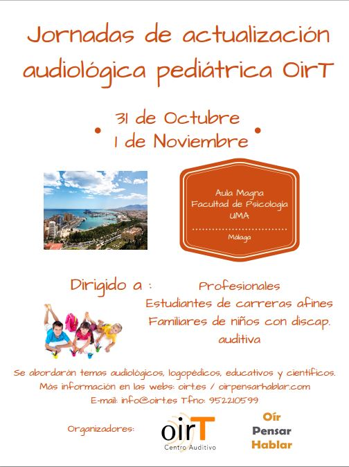 jornadas audiología pediátrica málaga