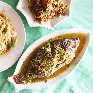 Burmese-style Steamed fish with lime - Shwe Kyar Pwint