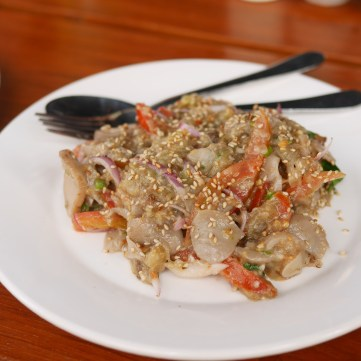 Eggplant salad from Sanon (Bagan)