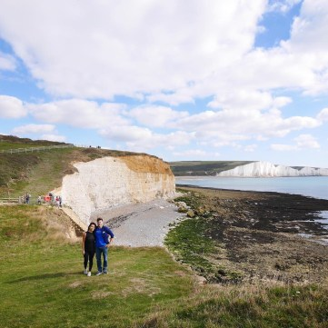 Hiking Seven Sisters Chalk Cliffs