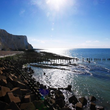 Bridge by the sea at Seven Sisters Coast