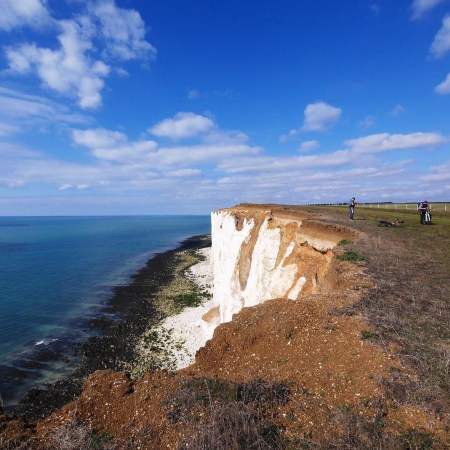 Blue Skies Seven Sisters Chalk Cliff