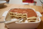 Homemade Tiramisu in a Tray